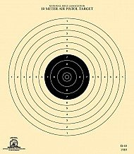 image relating to Nra B-8 Target Printable called B8 Pistol Aims 25 Backyard garden TJ Concentrate