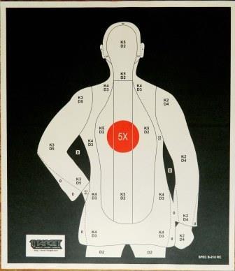 B 21 Police Shooting Targets B21 Police Silhouette ...
